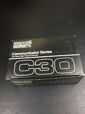 Maxell Cassette Tapes Lot of 10 Professional Industrial C30 Communicator