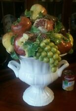 "Vintage Italian Art Pottery Fruit Topiary Centerpiece 18"" Supreme Quality!"