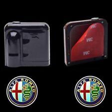 2pcs For ALFA ROMEO Logo Wireless Car LED Door Projector Ghost Shadow Lights