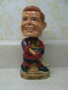 VINTAGE, 1960's, NHL HOCKEY, CHICAGO BLACKHAWKS, BOBBLEHEAD, NO ORIGINAL BOX