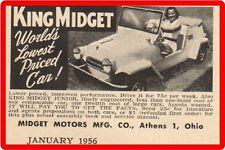 King Midget Cars Midget Motors Mfg. Athens OH  Refrigerator / Tool Box Magnet