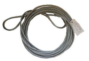 Anschlagseil 10mm ca. 9,5 m lang verzinkt Seil beidseitig Schlaufe Drahtseil Bau