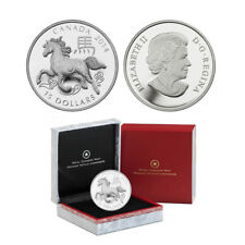 2014 $15 Canada Year of the Horse 1 oz Fine Silver Proof Coin  (OGP/COA)