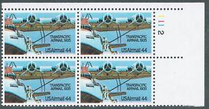 C115 Trans Pacific Airmail Color Shift Plate Block