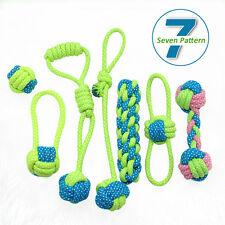 Плетеный хлопчатобумажный канат домашних животных собак интерактивные игрушки для собак для жевания укус обучение игры