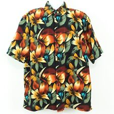 Utopia Sueded Microfiber Short Sleeve Hawaiian Button Front Shirt Men's Size XL