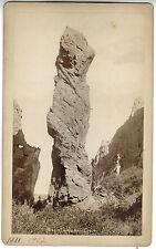 Thomas Hine Cabinet Photo - Major Domo Rock - Early Pioneer Photographer