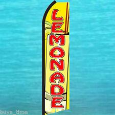 LEMONADE Yellow FLUTTER FEATHER FLAG Swooper Tall Advertising Sign Bow Banner