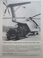 4/1964 PUB SIKORSKY S-61R US AIR FORCE MILITARY TRUCK HELICOPTER HUBSCHRAUBER AD