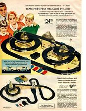 1966 Christmas Catalog page only Sears Pike's Peak Slot Car Lionel Corvette HO