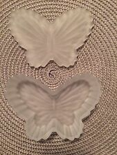 Frosted Glass Butterfly Jewelry Box