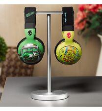 Solid Base Dual Side Aluminum Desktop Headphones Stand for JBL Beats Bose CHROME