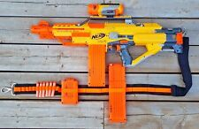 NERF N-Strike Stampede ECS 50 + Tactical Scope + Strap + Clips + Darts