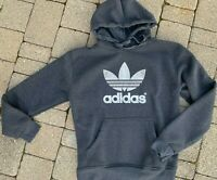 ADIDAS Big Trefoil Hoodie/ Sweatshirt Pullover Size Small Gray White