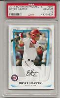 2011 Bowman Prospects #BP1 BRYCE HARPER, PSA 10 GEM MINT, RC Rookie , L@@K !