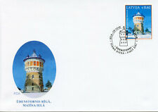 Latvia 2019 FDC Riga Water Tower Matisa 1v Set Cover Towers Architecture Stamps