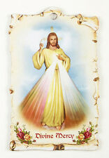 Divine Mercy Saint  Wall Plaque with  Prayer on back