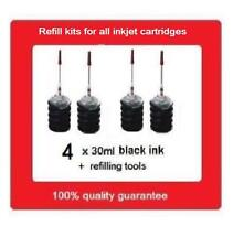 4x refill kits for HP60XL & HP60 black Ink cartridges D2560 F2400 F4400 C4600