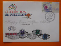 2003 ALPHA CELEBRATION & NATION 'SILVER' ILLSUTRATED FDC $1 RATE