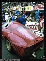 LE MANS 24 1967 MIKE PARKES LUDOVICO SCARFIOTTI FERRARI 330 P4 PHOTOGRAPH FOTO