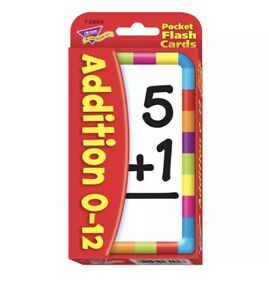 TREND POCKET FLASH CARDS ADDITION 0-12 56-PK 3004 T-23004