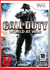 CALL OF DUTY World at War Wii Nintendo jeu Video compatible Wiiu Wii-U