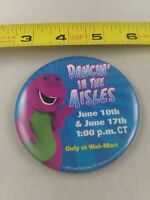 Vintage BARNEY Wal-Mart Dancin' In The Aisles 2000 pin button pinback *EE99