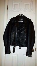 Vintage Wilsons Motorcycle Jacket Black Leather Classic Biker Men L Punk Rock