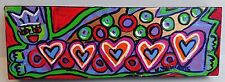 "When I Rise Angel Painting Williams Psalm 139:2 12"" x 4"" Unframed Hearts Crown"