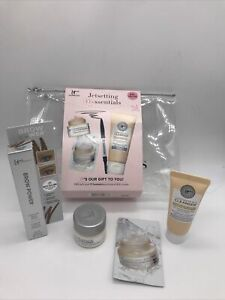 It Cosmetics Travel Confidence Eye Cleanser Cream Brow Power Taupe 5 Piece Set