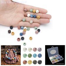 Beadnova 8mm Colorful Lava Rock Stone Gemstone Semi Precious Stone Beads Round