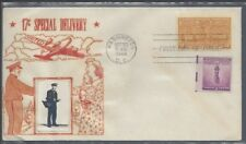 #E18 Special Delivery 17 cent stamp, DC cancel, Crosby Cachet