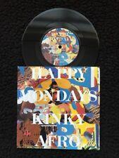 "Happy Mondays - Kinky Afro / Live Version 7"" Vinyl Pic Sleeve Factory FAC 302/7"