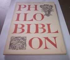 PHILOBIBLON VII I Marz 1963 Hamburg kunst buch in deutsch