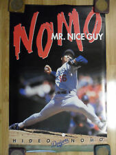 MLB Baseball Poster Hideo Nomo L.A. Los Angeles Dodgers ~ Mr. Nice Guy