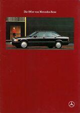Mercedes-Benz 190 1989-91 German Market Sales Brochure E 2.3 2.6 D 2.5 D Turbo