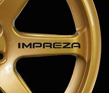 Subaru Impreza WRX STI 8 x logo decal graphics stickers for alloy wheels