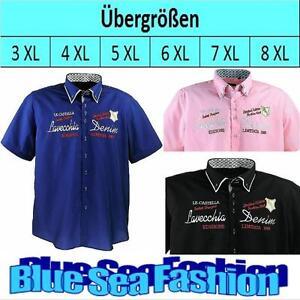 LAVECCHIA Designer Übergröße bestickt Print Shirt kurzarm Hemd Poloshirt 3XL.7XL