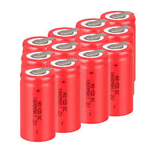 Brand Red 12PCS Sub C SC 1.2V 1800mAh Ni-Cd NiCd Rechargeable Batteries With Tap