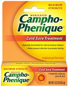 Campho-Phenique Cold Sore Treatment, Maximum Strength, Original Gel Formula, Fl