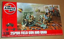 AIRFIX 25PDR FIELD GUN AND QUAD 1:76 SCALE ARTILLERY BRITISH MODEL KIT WWII