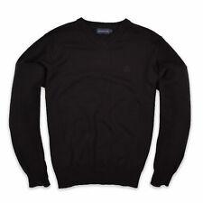 Henri Lloyd Herren V-Neck Pullover Sweater Gr.L Strick Schwarz 100938