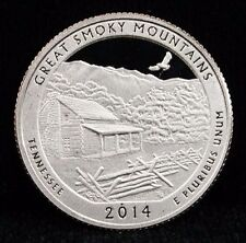 2014 S Proof America the Beautiful Great Smokey Mountains DCAM Proof Unc CN Clad