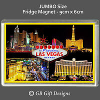 Las Vegas - Casino - Nevada - USA - Jumbo  Fridge Magnet