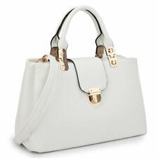Dasein Women Medium Faux Leather Top Handle Handbags Satchel Shoulder Bag Purse