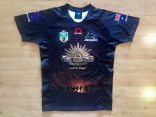 PENRITH PANTHERS 2015 ANZAC DAY #1 MATCH PLAYER RUGBY LEAGUE SHIRT JERSEY LARGE