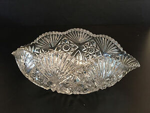 Antique clear pressed glass bowl 1900's 1910's Imperial