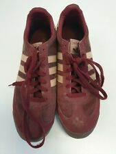 I391 MENS ADIDAS DRAGON RED LACE UP TRAINERS UK 10 EU 44 2/3