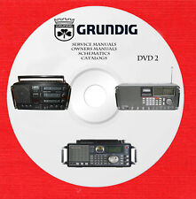 Grundig Audio Repair Service Schematics owners manuals dvd 2 of 2 in pdf format