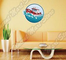 "Rescue Boat Firefighter 911 Emergency Ship Wall Sticker Room Interior Decor 22"""